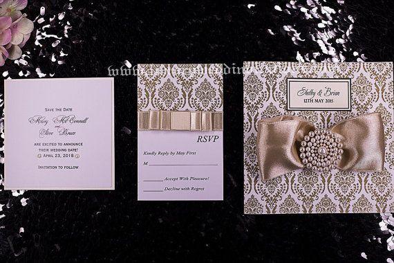 Wedding Invitation Velvet Touch Vintage by luxuryweddinvitation