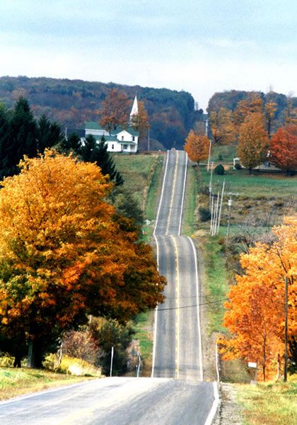Chautauqua County, New York / Country hills. Remember when we were young and stupid and could not wait to leave here???