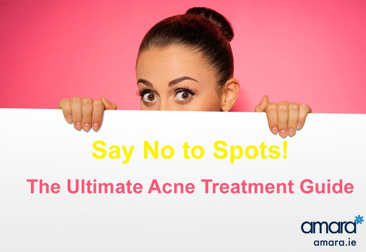 You do not have to live with Acne! Say no to spots with Amara Dublin Acne Treatments.