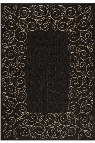 "Durango Outdoor Area Rug, 6'7""x9'6"", BLACK SAND by Home Decorators Collection. $169.00. Inspired by popular sisal floor coverings, the Durango Rug offers the look and texture of natural fibers, plus all-weather durability. Power loomed of finely spun 100% Derclon, its element-defying flatweaves dry quickly and resist stains, mold and mildew. Perfect for your kitchen, deck, porch or patio. Attractive enough for indoor use. Exceptionally easy to clean; simply sp..."