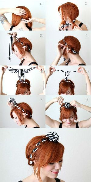 Coiffure facile : la coiffure foulard en tresse
