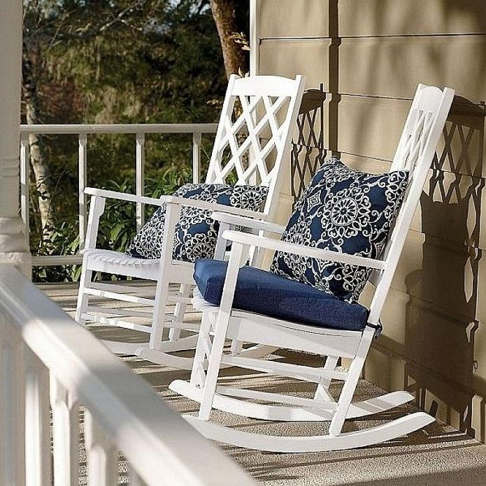 porch rocking chair cushions White rocking chairs