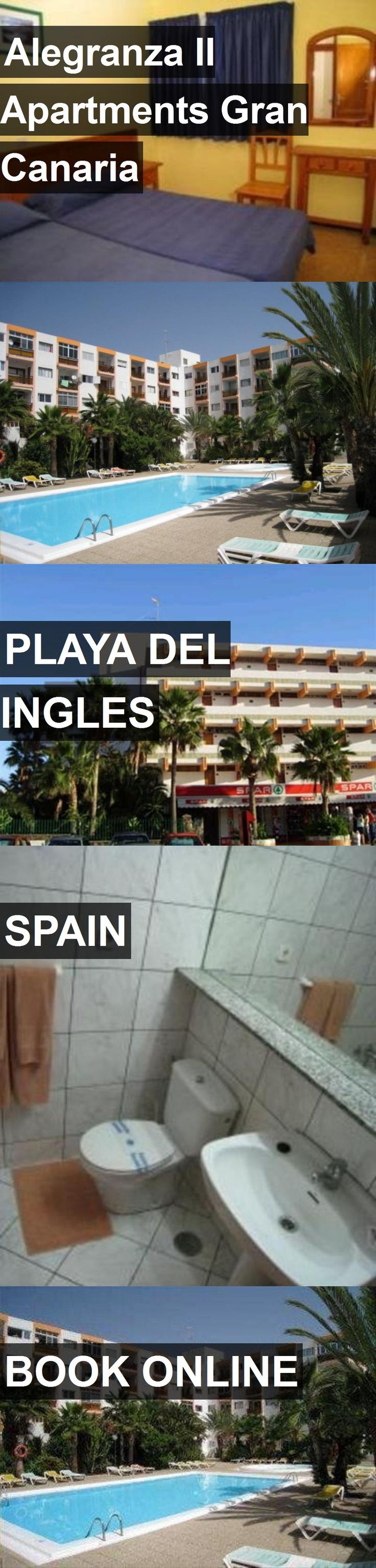 Hotel Alegranza II Apartments Gran Canaria in Playa del Ingles, Spain. For more information, photos, reviews and best prices please follow the link. #Spain #PlayadelIngles #AlegranzaIIApartmentsGranCanaria #hotel #travel #vacation