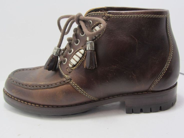 Cole Haan Womens Brown Leather Ankle Boots Tassel Laces Size 5 M EUC in  Clothing, Shoes & Accessories