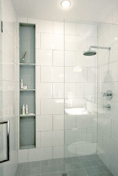 HH Design - transitional - bathroom - salt lake city - Jeni Shirley Photography. Tiled niche in shower.