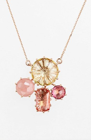 Free shipping and returns on KALAN by Suzanne Kalan Stone Cluster Pendant Necklace at Nordstrom.com. A cluster of blushing cushion-cut stones radiate on an ultrafeminine necklace made from 14-karat rose gold.