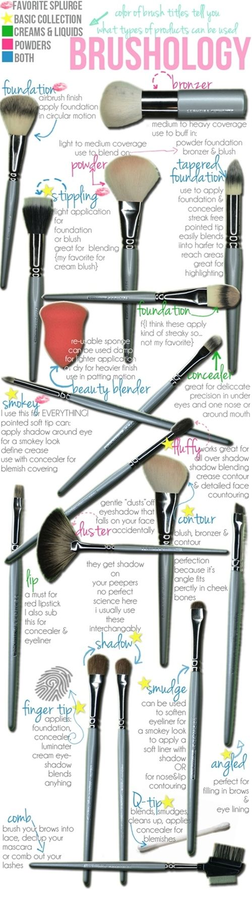 Everything you ever need to know about your brushes! - Click image to find more makeup posts