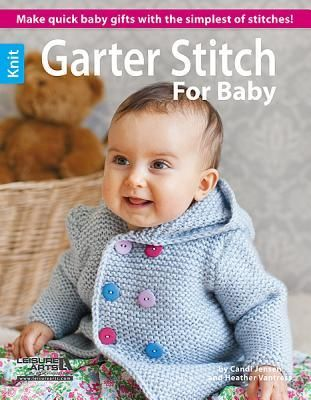 Garter Stitch is not only one of the easiest stitches to master -- just knit every row -- but it also has a wonderful texture that will enhance any project. All of the projects in this book from Candi Jensen and Heather Vantress will be a joy to knit, whether you pick a blanket, sweater, booties, or a hat.10 Designs to knit using various weights of yarn: Baby Hat, Leg Warmers, Ripple Stripe Blanket, Teal Stripe Blanket, Hooded Sweater, Vest, Sweetie Toy, Booties, Mitts, and Fingerless Mitts.