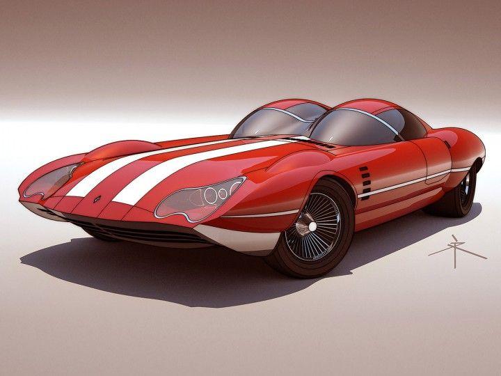 Retro-futuristische Konzepte von 600v – Car Body Design