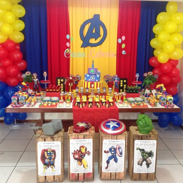 Festa Super Heróis Decoração