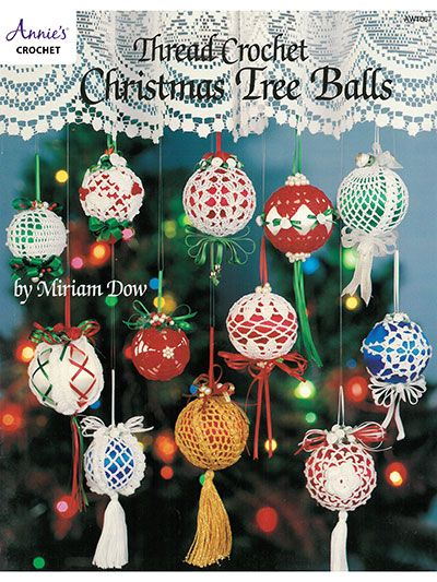 Impress everyone on your gift list this season with beautiful thread crochet Christmas ornaments. 24 designs all made using size 10 crochet cotton thread. Embellish as desired with ribbon and trims.