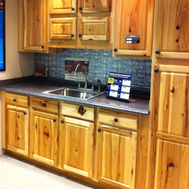 lowes hickory kitchen cabinets denver hickory cabinets these a lot more character 7215