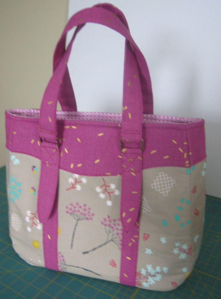 Gorgeous Eveyln Handbag by Swoon patterns in Cotton&Steel 's Mochi Cotton and Linen by CreationsbycathyK on Etsy