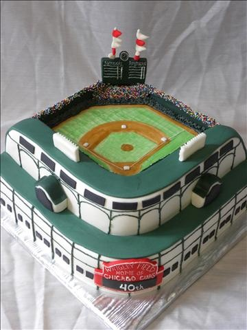 Wrigley Field Birthday Cake  #TheSweetDivine #StL #baseball #cake #wrigley PHOTO GALLERY