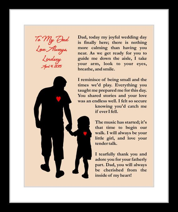 Personalized Father Of The Bride Wedding Thank by Printsinspired