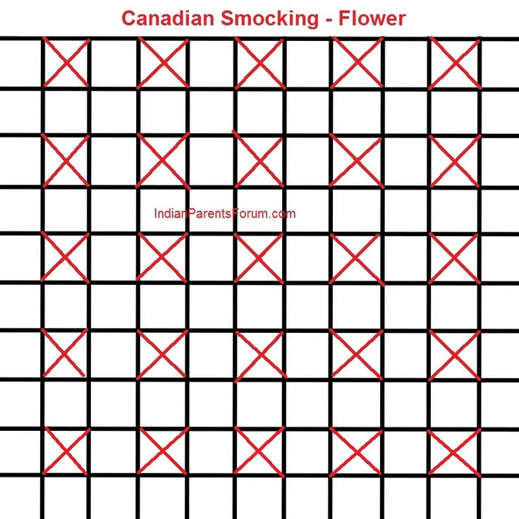 Canadian Smocking Tutorials - Flower design - step by step pictures - DIY cushion cover