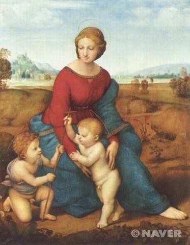 초원의 성모 (Madonna in the meadow)  라파엘