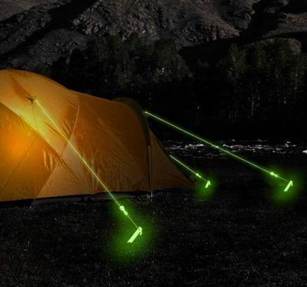 Glow In The Dark Tent Rope ... Genius!