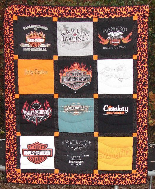 Harley Davidson t shirt quilt