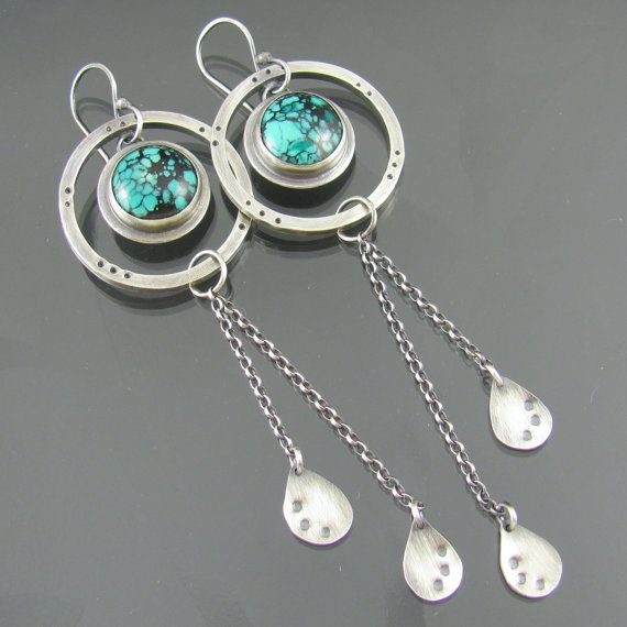 25a8448ccf7b turquoise sterling silver earrings turquoise by NRjewellerydesign