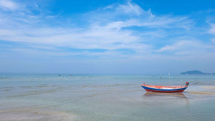 #beach #boat #chanthaburi #chaolao beach #fishing #morning #prachuap khiri khan #pranburi #sea #ship #sun #sunrise #thailand #thailand beach