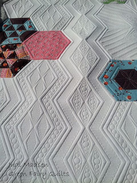 Green Fairy Quilts - Pam's Science Fair quilt finished!!