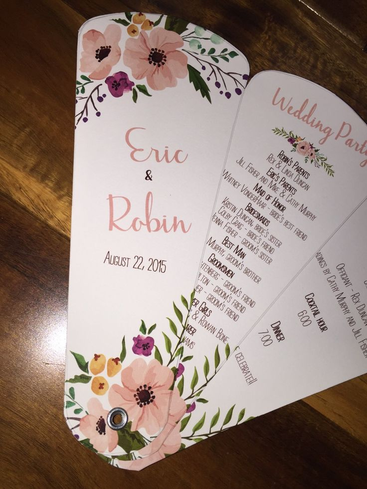 Wedding Program Fans Petal Fan Programs Fan by WeddingSophisticate