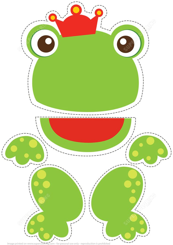 Paper Puppet Toy Frog the Prince to Cut Out   Super Coloring
