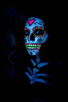 glow in the dark day of the dead makeup - Google Search