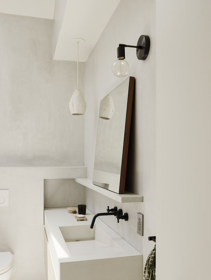 modern bathroom fountain valley reviews%0A beautiful use of concrete and plaster in modern bathroom