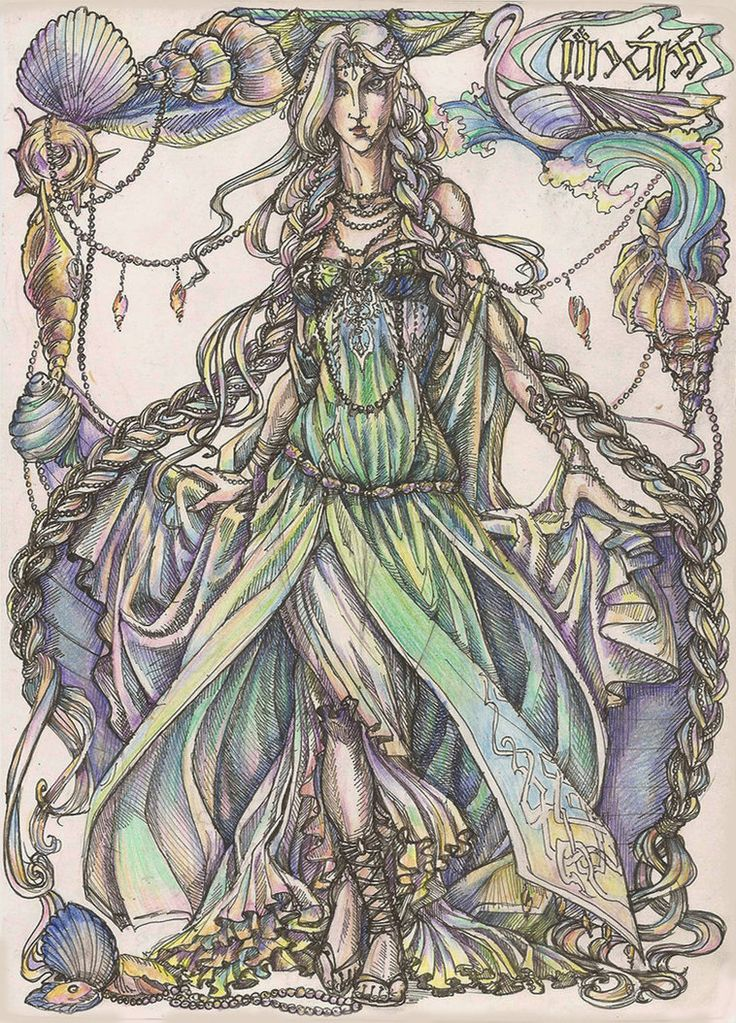 Earwen from Alqualonde. Telerin Princess. the Daughter of King Olwe, the wife of Finarfin, the mother of Finrod , Angrod, Aegnor and Artanis (Galadriel):