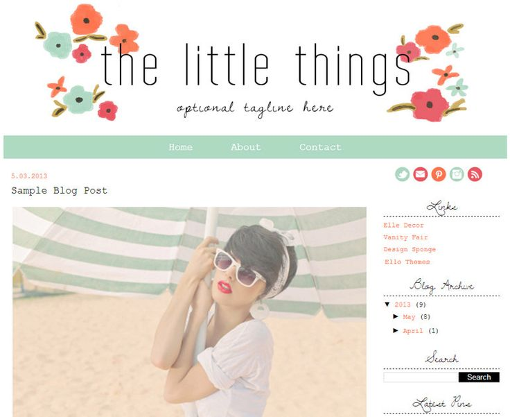 Premade Blogger Template Design So There Blog by ElloThemes, $35.00 ...