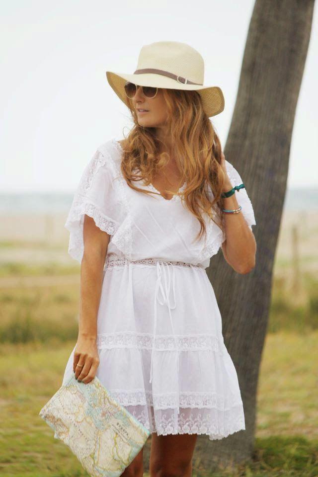 incredible outfit vestido blanco playa 10