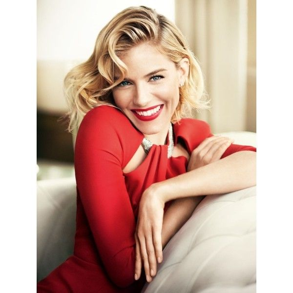VOGUE UK Sienna Miller by Mario Testino Image Amplified The Flash and... ❤ liked on Polyvore featuring models, people and red