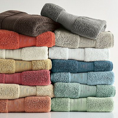 """The Company Store's 700-gram luxury bath towels are woven from the finest long-staple combed Egyptian cotton. Exceptionally plush, absorbent and long-lasting. """"Storm"""" or """"Blue Sky"""" for the Master Bathroom."""
