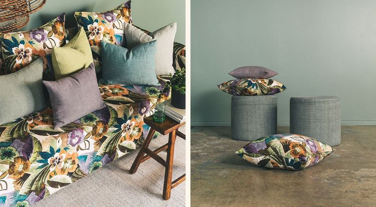 Evergreen Collection available from  James Dunlop Textiles