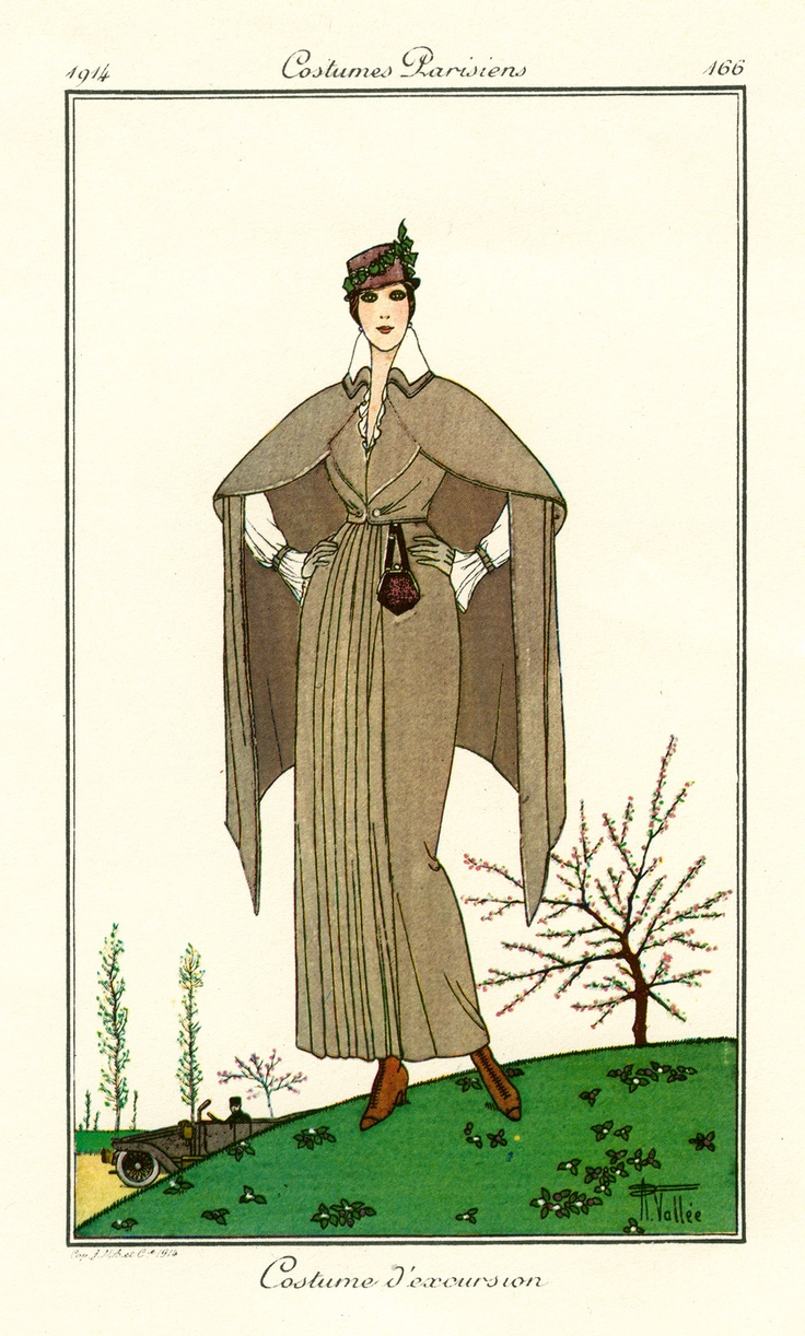 Page of Parisian Women's fashion from 1914.