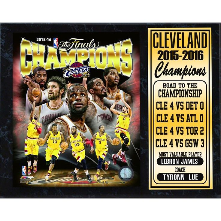 Encore Select 2016 NBA Champions Cleveland Cavaliers 12-inch x 15-inch Stat Plaque