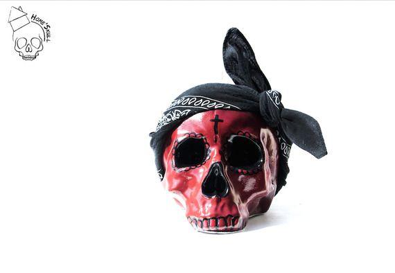 Tête de mort Skull Pop Art Calaveras Rojo