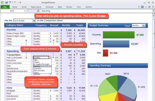 2. SimplePlanning Budget Planner  This is my favorite household budgeting template that I have found, but unlike the other 4 listed it isn't free.
