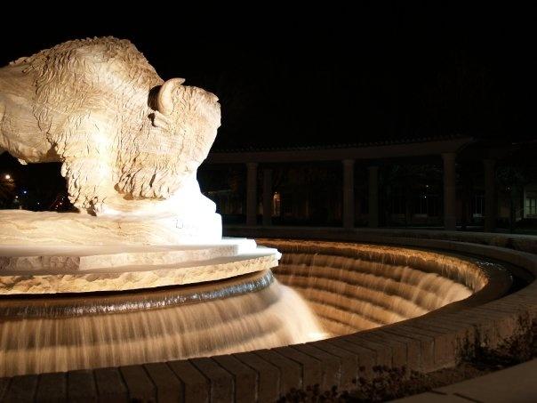 Buffalo Fountain, West Texas A&M University, Canyon, TX