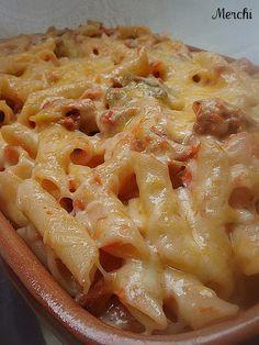 Macarrones gratinados con atún y verduras - Tvcocina . Recetas de Cocina Gourmet Restaurantes Vinos Vídeos