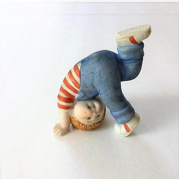 Vintage Cabbage Patch Tumbling Boy Figurine by TazamarazVintage