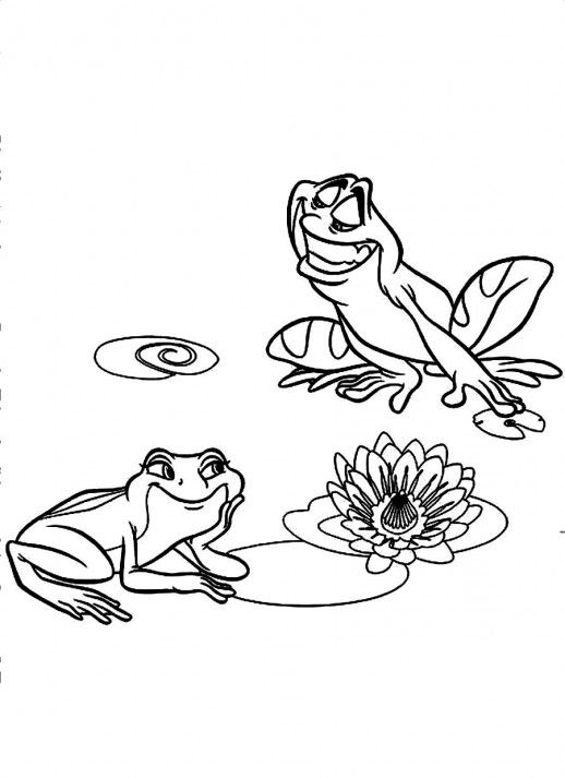 naveen and tiana in frog form disney princess and the frog coloring pages