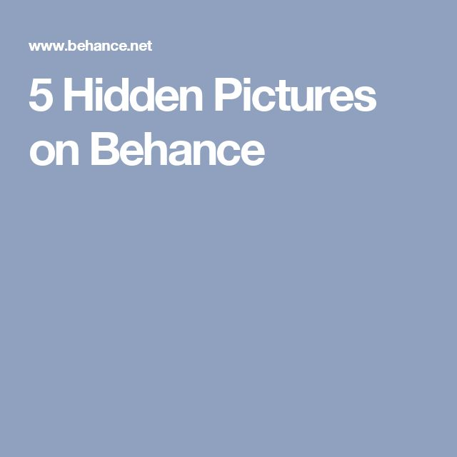5 Hidden Pictures on Behance