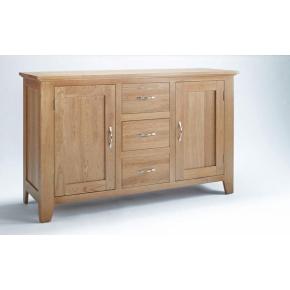 Cambridge Oak 2 Door 3 Drawer Sideboard CO2102  www.easyfurn.co.uk