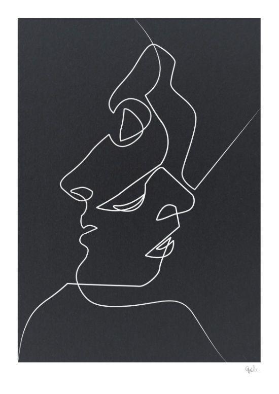"lafilleblanc: ""Quibe Closed Noir (Kiss) society6.com/quibe mini-q.tumblr.com """