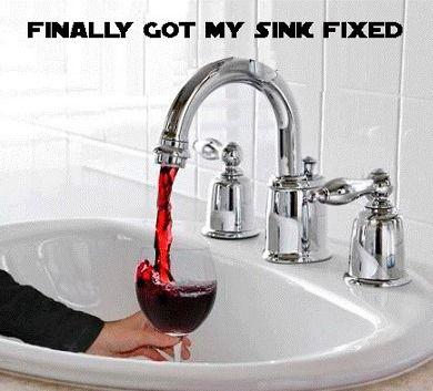 I finally got my sink fixed