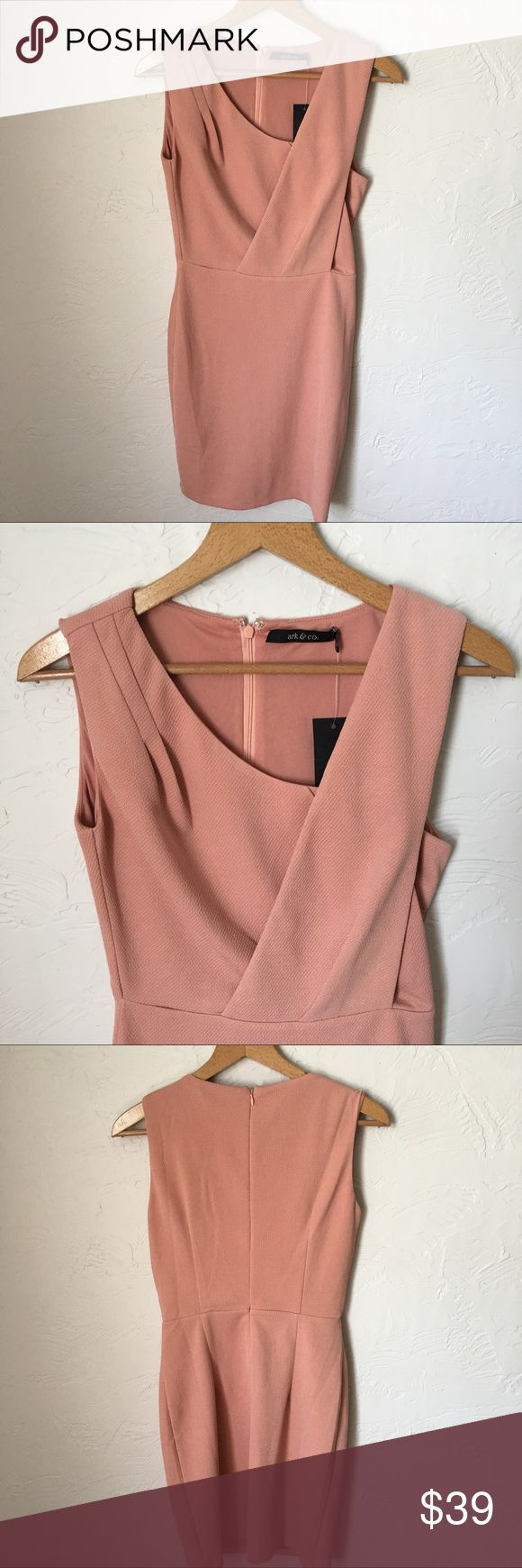"Ark & co. NWT salmon dress Ark & co. NWT salmon colored sleeveless dress. 17"" bust measurement when laid flat. 35"" long. Ark & Co Dresses"