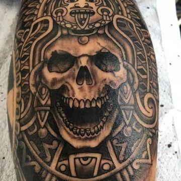 Diversos Estilos En Tatuajes De Calaveras Aztecas Tatuajes En El